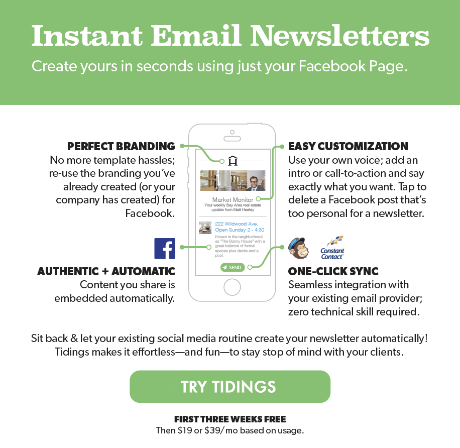 Create email newsletters quickly & easily