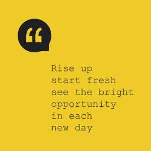 It is time for a fresh start
